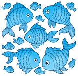 Fish drawings theme image 4