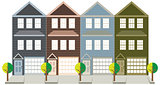Townhouse with Tandem Color Garage