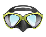 professional diving mask snorkeling vector isolated on white background