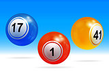 New 3D bingo lottery balls