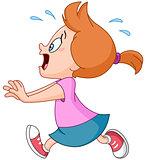 Running panic girl