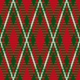 Rhombic seamless checkered pattern in green and red