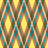 Diagonal seamless checkered pattern in yellow and brown