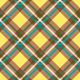 Rhombic seamless checkered pattern in yellow and brown
