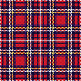 Seamless checkered pattern in red and blue
