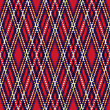 Rhombic seamless checkered pattern in red and blue