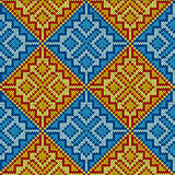 Knitting seamless square pattern