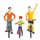 Cycling with Family, Illustration