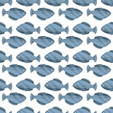 Seamless vintage fish drawings pattern, vector illustration. Engraving style sea life background. Retro element for your design.
