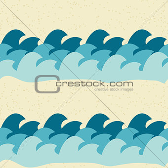 Abstract Simple Wave Seamless Pattern Background Vector Illustration