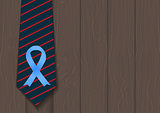 Blue Ribbon Symbol of World Prostate Cancer Awareness Day Concept. Men Healthcare Concept. Vector Illustratio