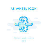 AB Wheel icon isolated on white.