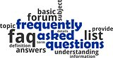 word cloud - frequently asked questions