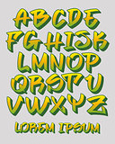 Graffiti font 3D - Hand written - Vector alphabet