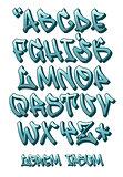 Graffiti font 3D- Hand written - Vector alphabet