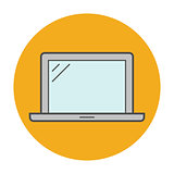 Laptop flat line icon