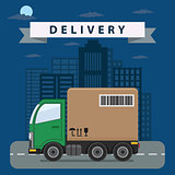 Delivery truck illustration.