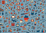 Germany, design elements. Seamless pattern