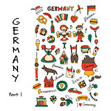 Germany icons set. Sketch for your design