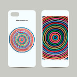 Mobile phone cover design, abstract circles pattern