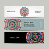 Banners set, abstract circles design