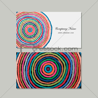 Business cards set, abstract circles design