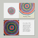 Greeting cards set, abstract circles design