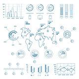 Social Media Blue Infographic Elements