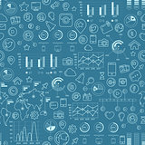 Social Media Blue Seamless Pattern