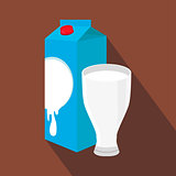 Milk and cup isolated , vector illustration.