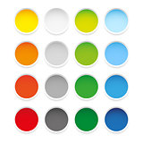 Colorful epty round sticker set