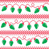 Christmas tree lights seamless pattern, ugly Christmas sweater style