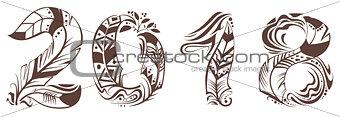 2018 year bird feather symbol
