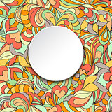 card with abstract pattern and circle frame.