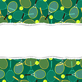 Pattern with tennis rackets and balls.