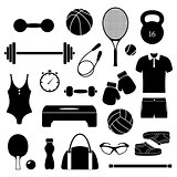 fitness equipment on white background.