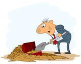 Digging a treasure