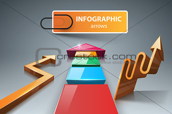 3d arrows - business infographic.