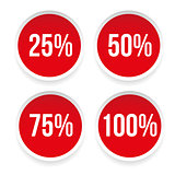 Percent sticker set vector