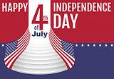 Happy Independence Day 4th of july. Star stripe flag symbol united states