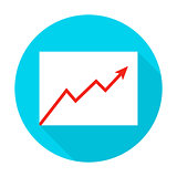Growth Graph Flat Circle Icon