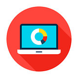 Data Analytics Flat Circle Icon