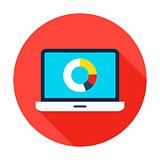 Data Analytics Flat Circle Icon