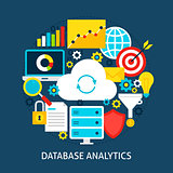 Database Analytics Flat Concept