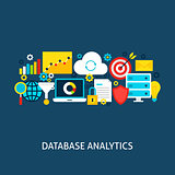 Database Analytics Vector Flat Concept
