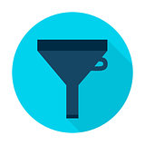Filter Flat Circle Icon