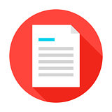 File Document Flat Circle Icon