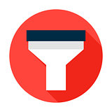 Funnel Flat Circle Icon