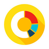 Infographic Pie Flat Circle Icon