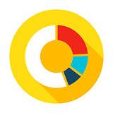 Infographic Pie Flat Circle Icon